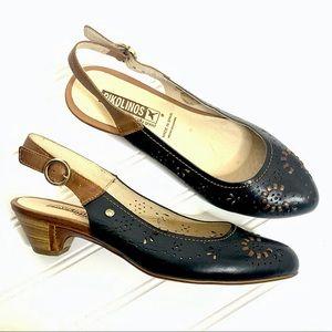 Pikolinos Elba slingback leather heels